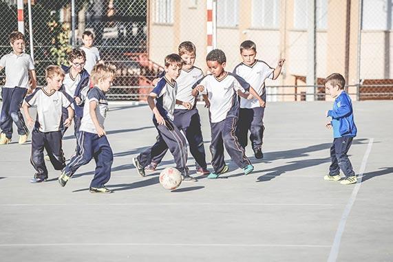 Fútbol colegio Santa Cruz